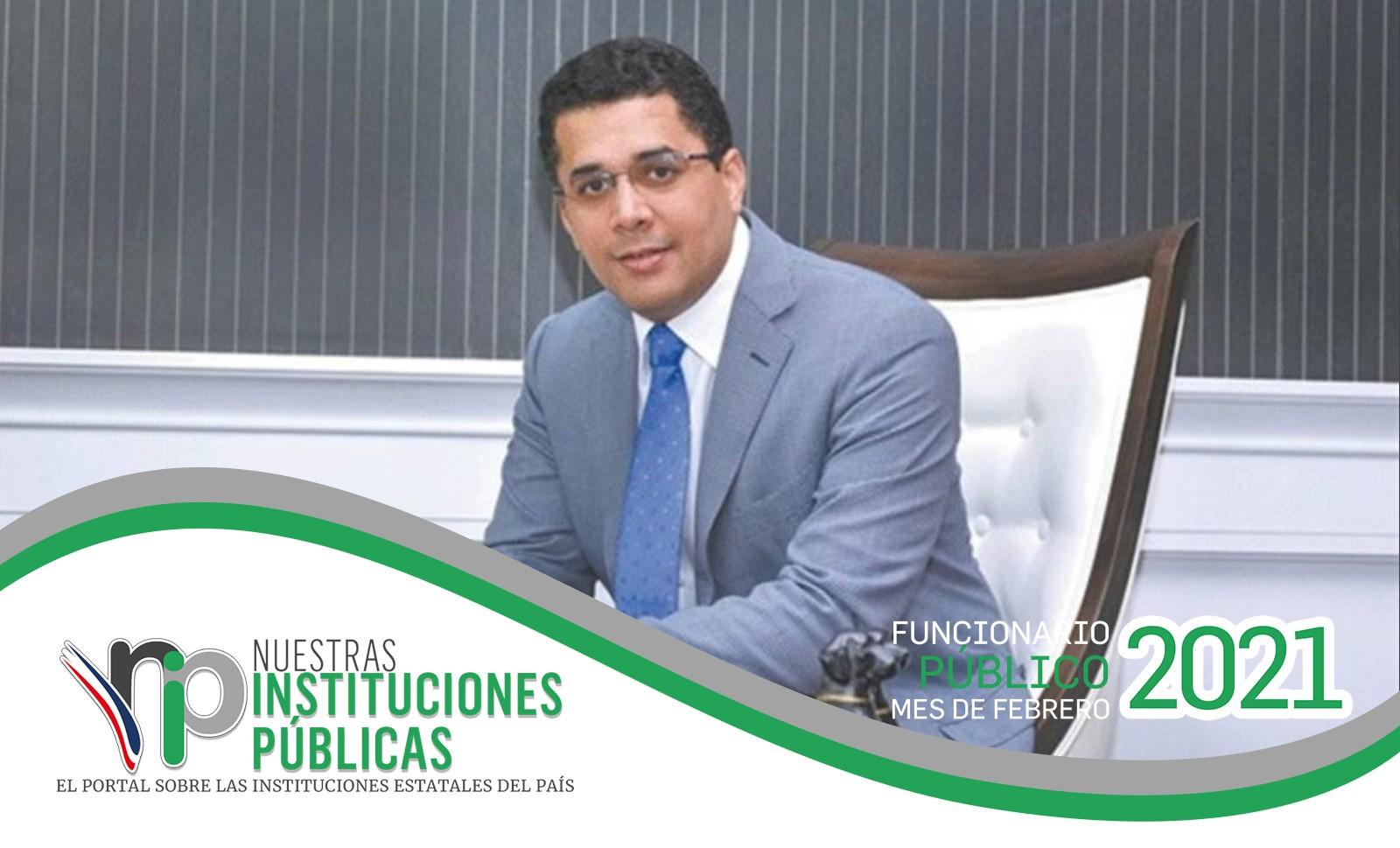 David Collado, ministro de Turismo, es el funcionario público del mes de febrero