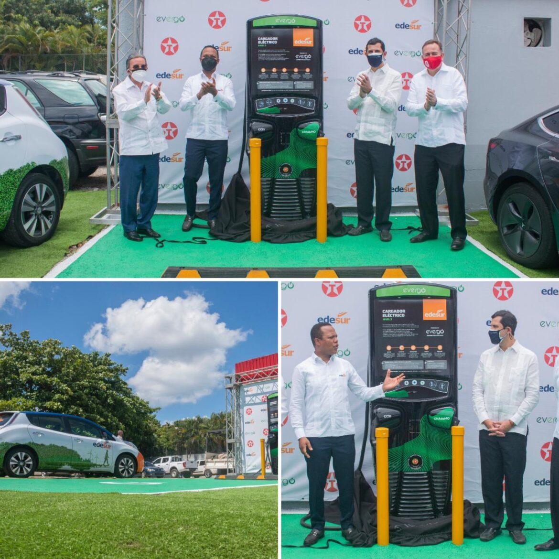 Edesur Dominicana y Evergo inauguran cargador para vehículos eléctricos en estación de combustible Texaco