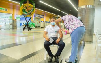 OPRET inicia jornada de vacunación contra COVID-19 en estación Juan Pablo Duarte