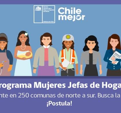 Ya pueden postular al Programa Mujeres Jefas de Hogar