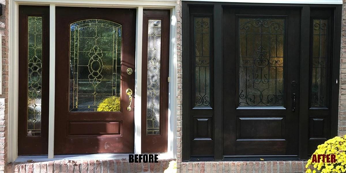 Custom Fiberglass Entry Doors : Custom fiberglass door excellent with