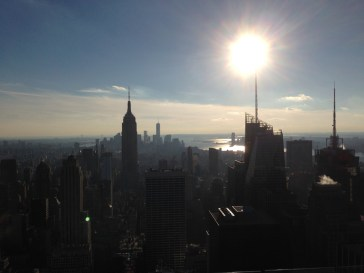 View from the Top of the Rock in New York