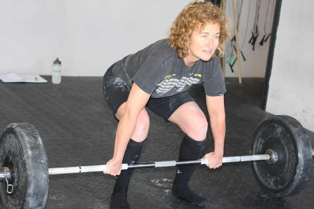 Sharon McCartney doing CrossFit workout