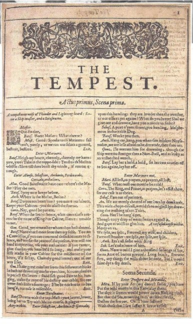 The tempest essays