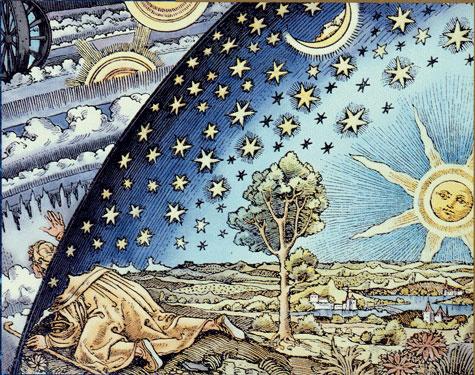 spiritualpilgrimwoodcutIn two places at once _ Spiritual Pilgrim, Woodcut, anonymous German artist, circa 1530. Jung, CW 10, plate VII