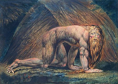 William Blake Nebuchadnezzar (Tate copy)