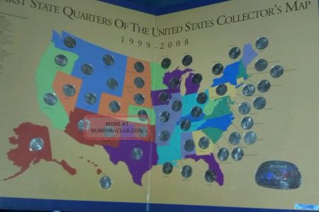 first state quarters if the united states collectors map