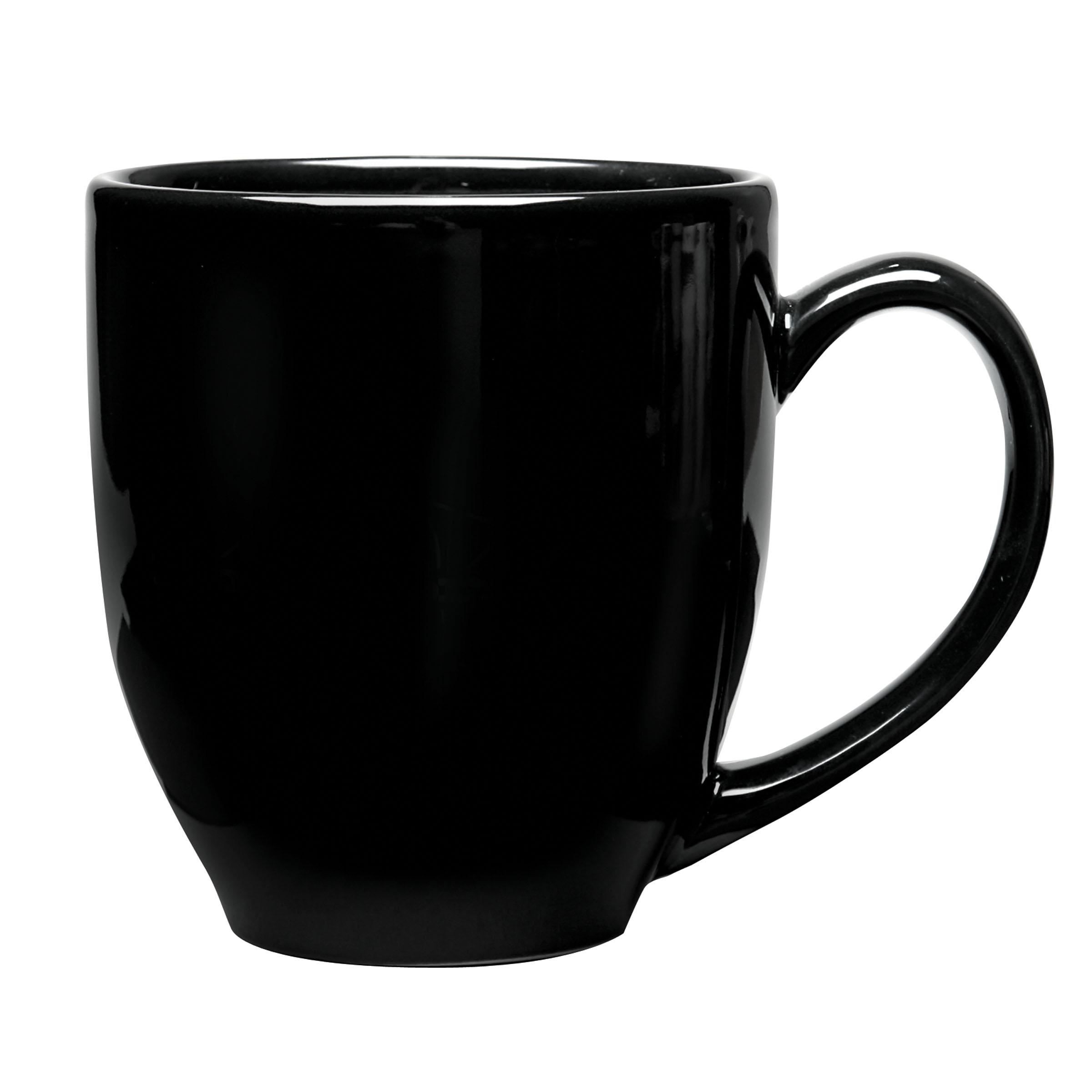 Smothery Image Numo Ceramic Bistro Mug Ounce Black Oversized Latte Mugs furniture Oversized Latte Mugs