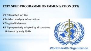 Goal of Expanded Program on Immunization (EPI)