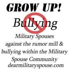 Hey Military Spouse! Grow up & stop the bullying!