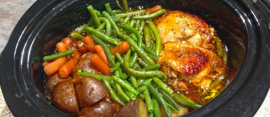 Crock Pot Honey Garlic Chicken with Veggies