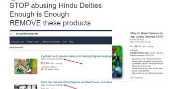 Amazon removes doormats with images of Hindu gods