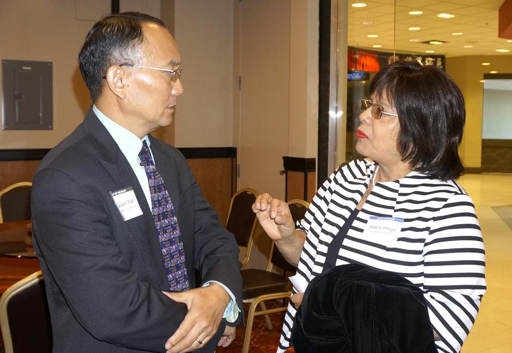 Dr. Shouan Pan and Estella Ortega