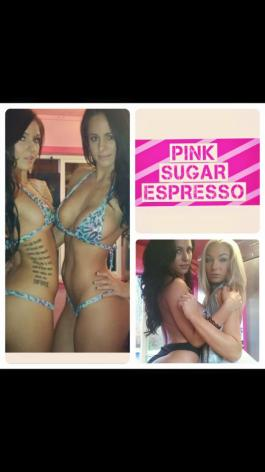 Vitist the Pink Sugar Espresso Girls at their Booth in the Vendor EXPO