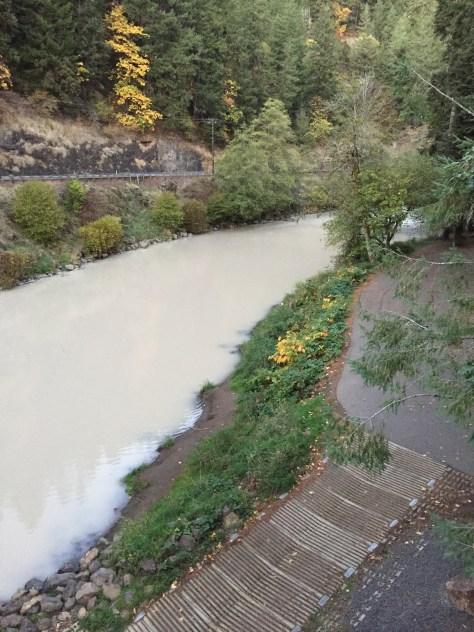 Why the kalama turned white for Kalama river fishing