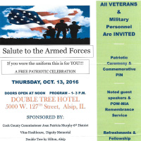 Salute to Armed Forces 2016 event