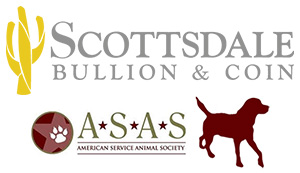 Scottsdale Bullion and Coint with American Service Animal Society (ASAS)