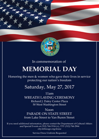 Chicago Memorial Day Flyer featured