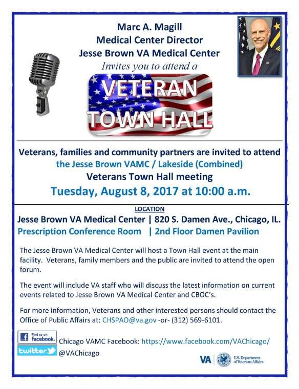 Veteran Town Halls 2017 JBVAMC _ Lakeside - 08-08-2017 - flyer-a