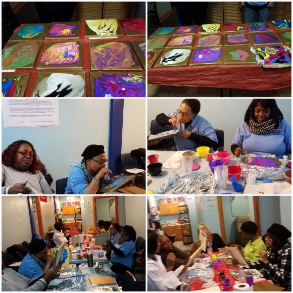 NWVU Art Therapy at the Illinois Women Veterans Community Center.