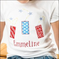 Custom  Boutique Monogrammed Patriotic Fourth of July Shirt, Boys and Girls, YOU  Design