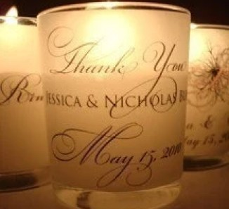 THANK YOU   -   VELLUM VOTIVE WRAPS  - DIY