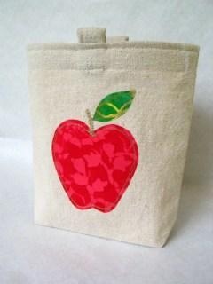 Batik Apple Appliqued Reusable Sandwich or Snack Bag