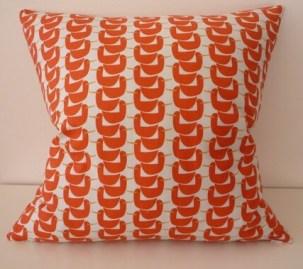 Orange Ducks in a Row Pillow / Cushion Cover