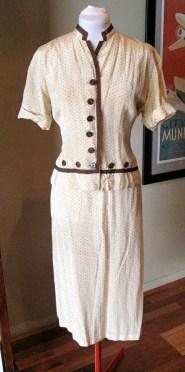 Vintage 1930s 'Fruit of the Loom' Rayon Dress Suit Set - L