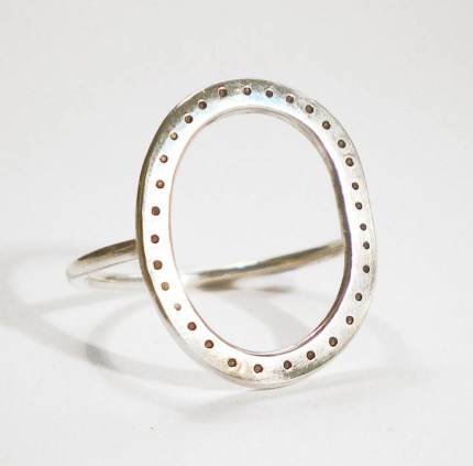 Shere Design Dotty Hoop Ring