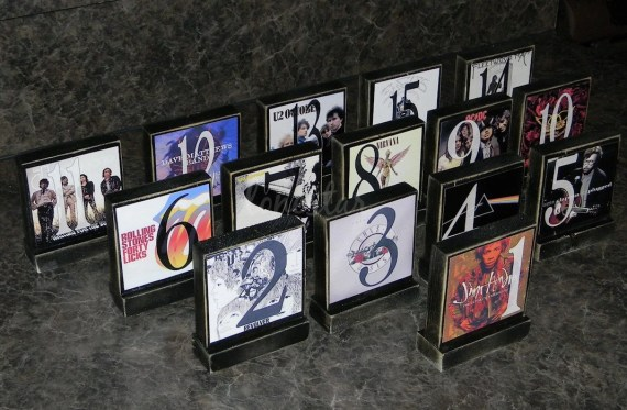 Set of 15 Personalized  Wedding Photo Blocks - Custom Table Numbers-Centerpieces-Place Cards  Photo Blocks