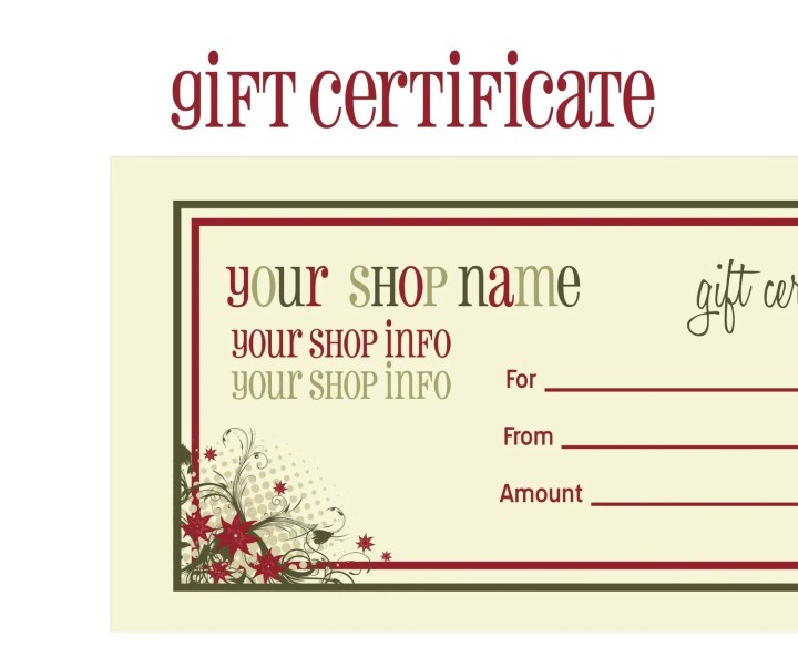 Certificates Printable Calendars Free Printable Avon Gift Certificate ...