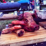 April Bloomfield roasted a whole hog. I forgot to take a picture of the pulled pork sandwich we got. It was quite good.