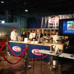 We headed right to the back and Barilla was set up doing tastings