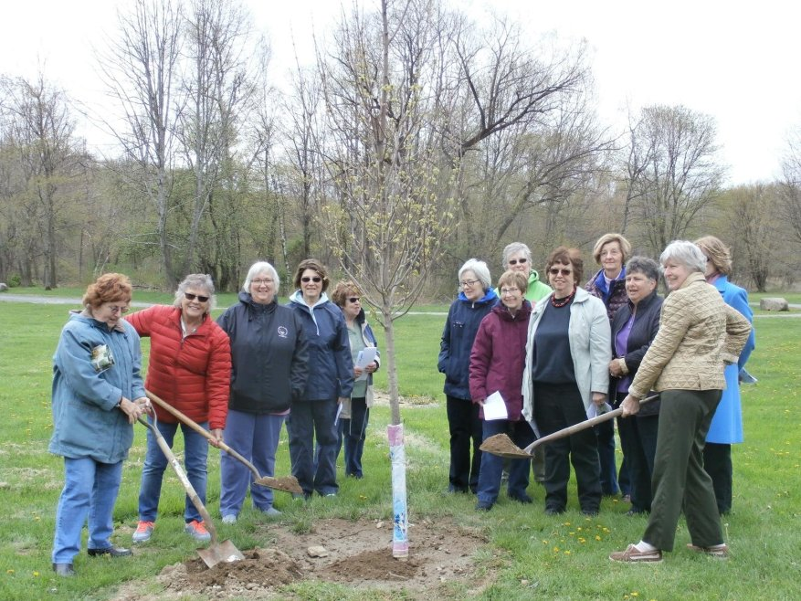 The Otisville Country Garden Club was a key partner in the Arbor Day celebration, creating and donating program flyers and publicity for the occasion.