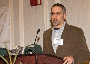 Steve Harris presenting