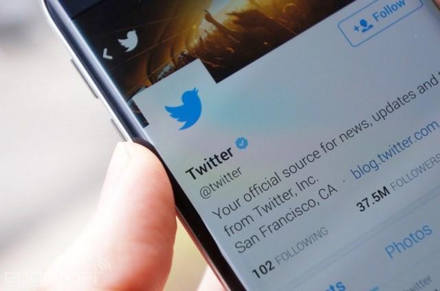 Twitter on a Galaxy S6 Edge