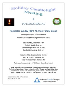 Holiday Potluck Social & Candlelight Meeting to Follow @ First Congregational Church | Rochester | Michigan | United States