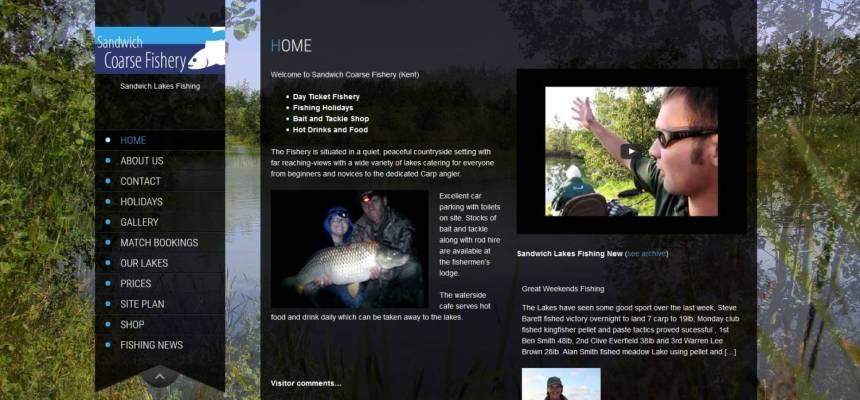 website design fishing lakes