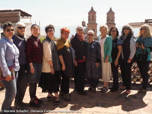 Ten wonderful women on the February 2016 study tour on the Spratling terrace