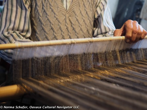 A tedious process, Evaristo only weaves 2-hours a day now instead of eleven.