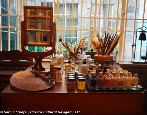 Kahlo studio at Casa Azul