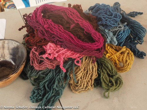 The beauty of natural dyes: deep, rich color, a rainbow to weave with