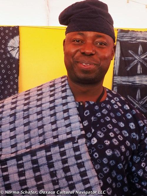 Gasali Adeyemo, from Nigeria, taught indigo batik at Museo Textil de Oaxaca