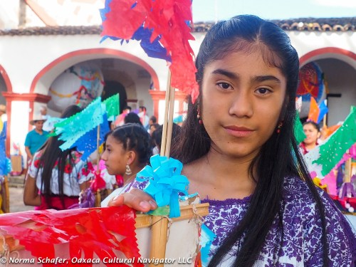 Lupita Chavez joins the young women's processions this year