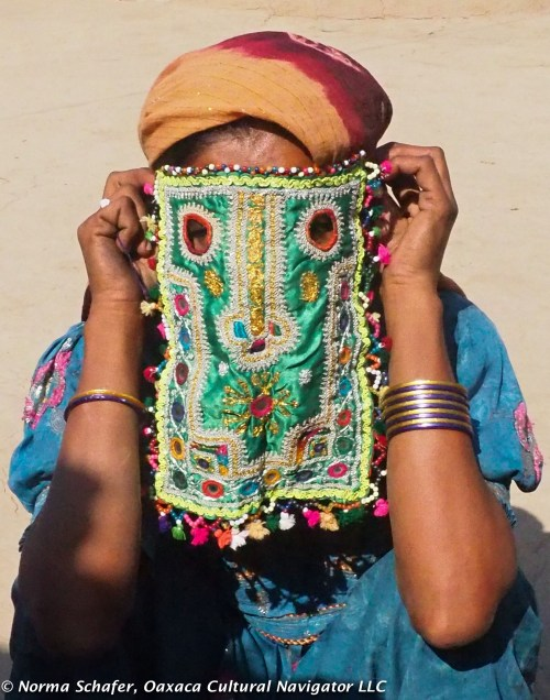 Women's ceremonial marriage mask, Wandh community, Bhuj