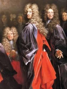 Pintura do século XVII mostra corte com perucas da época (Foto: Reprodução/Wikimedia Commons)