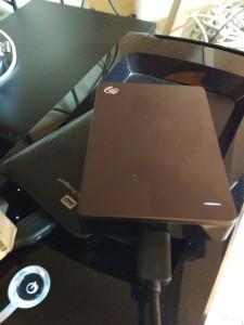 Un par de discos duros externos