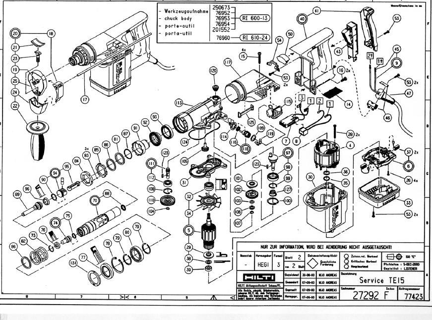 hilti te 75 parts diagram search for wiring diagrams u2022 rh idijournal com hilti te 25 parts list hilti te 25 parts