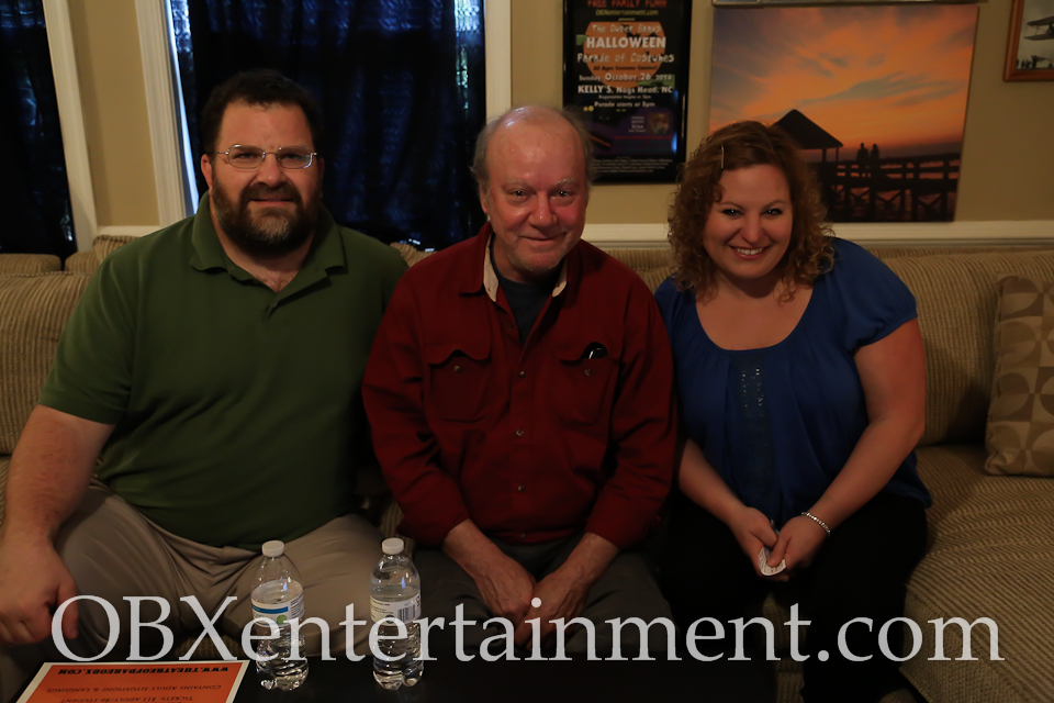 Sue Artz with Jon Bender and Don Bridge of Theatre of Dare on the set of the OBX Entertainment series 'OBXE TV' on April 16, 2015. (photo by OBXentertainment.com)
